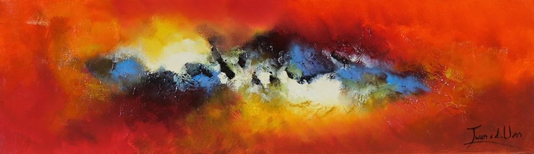 Schilderij abstract 30x100