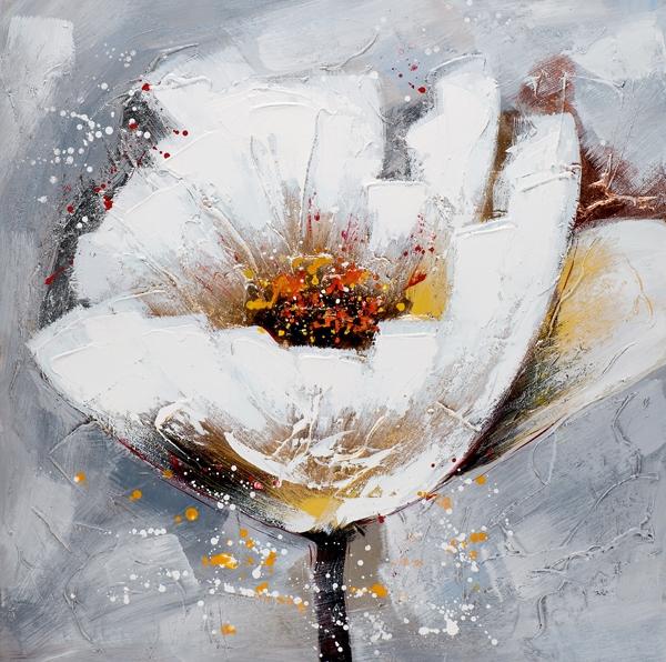 schilderij bloem 100x100
