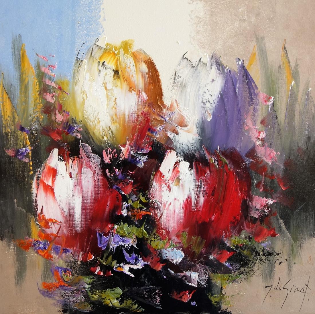 Schilderij tulpen 50x50