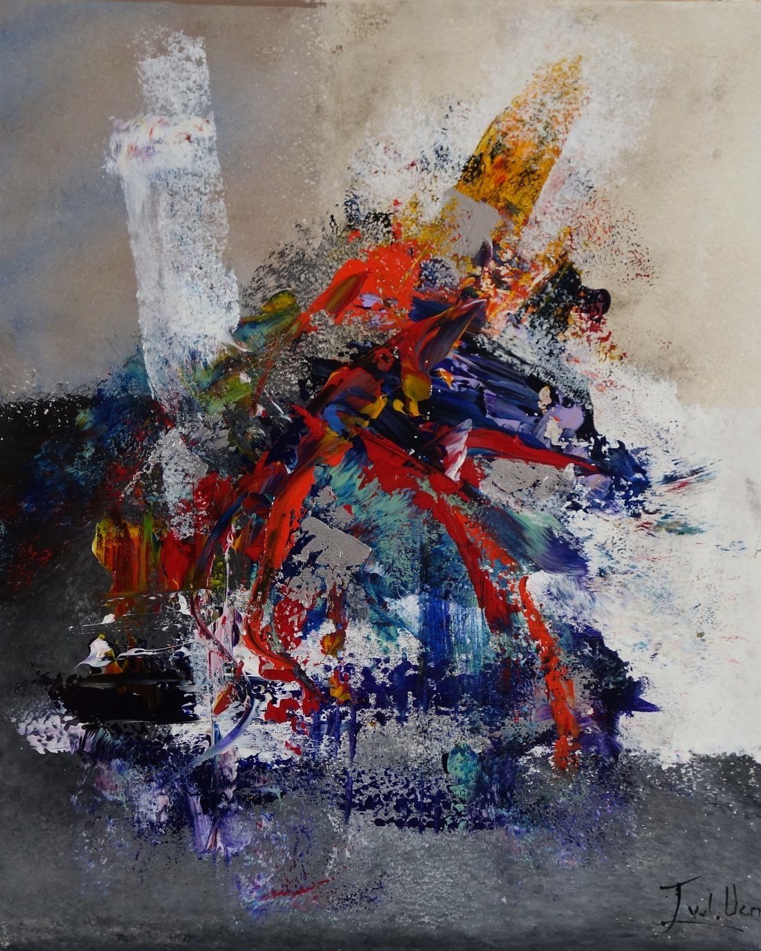 Schilderij abstract 50x60
