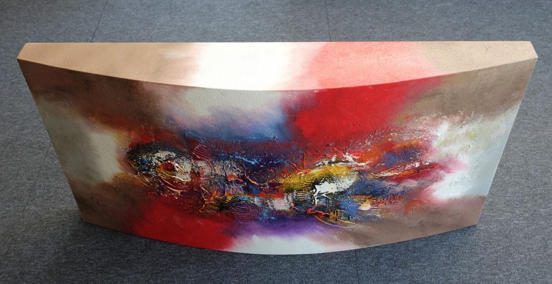 Schilderij halfrond modern 60x117