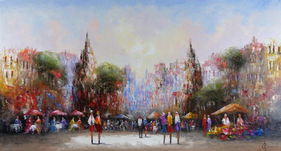 Schilderij stadsgezicht 100x180