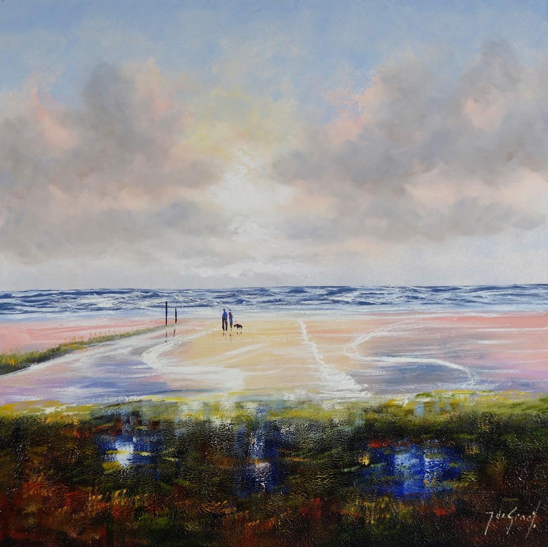 Schilderij landschap 100x100