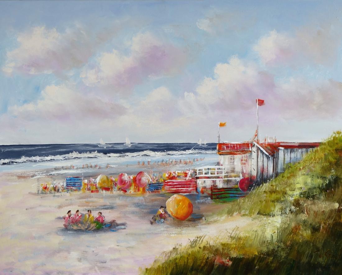Schilderij Strand leven 80x100