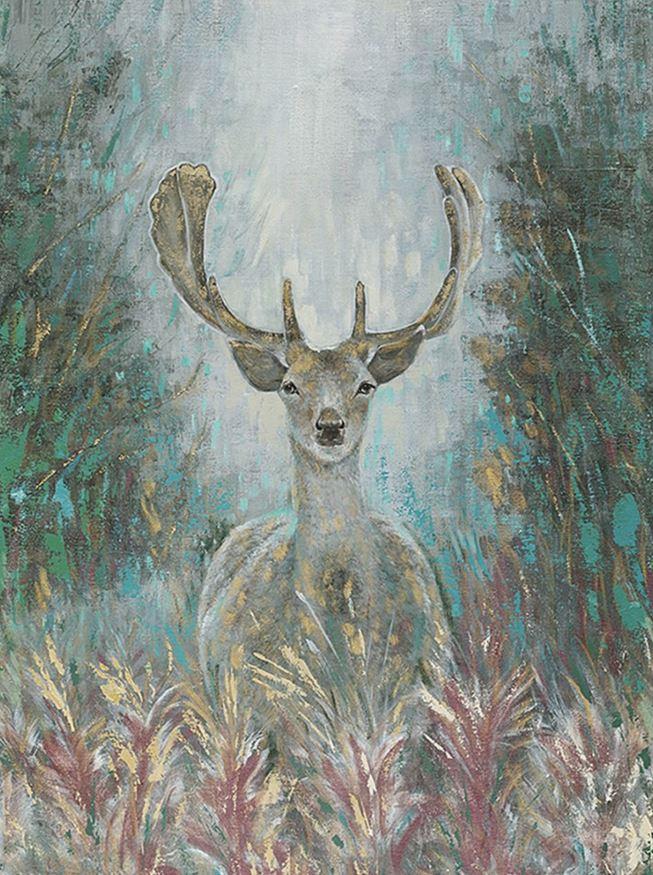 Schilderij hert 90x120