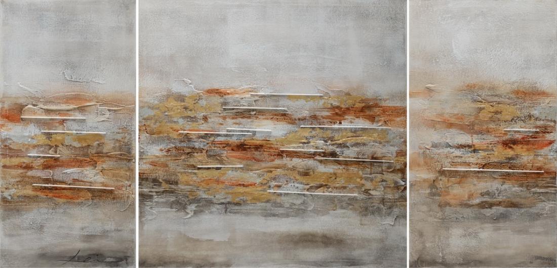 Meerluik schilderij abstract 70x146