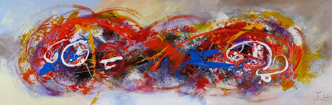 Schilderij modern 50x150
