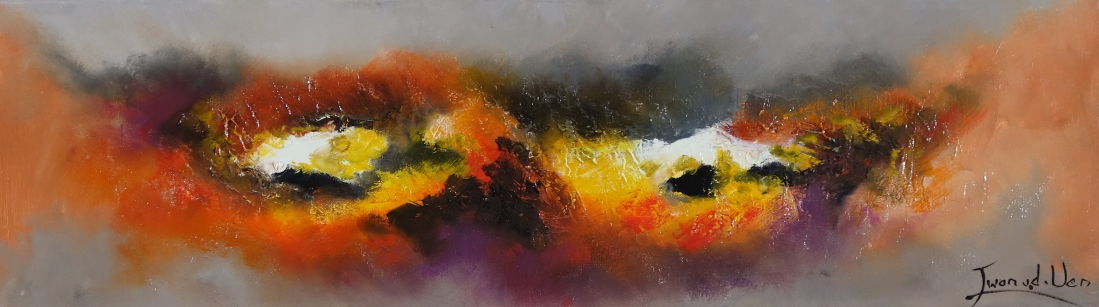 Schilderij abstract 30x100