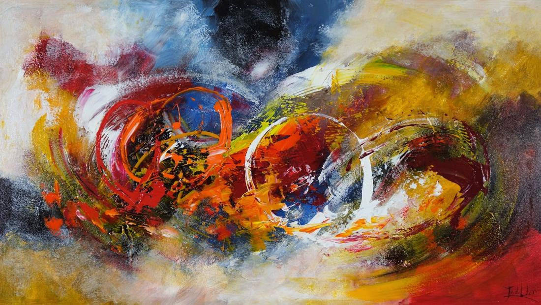Schilderij modern 80x140