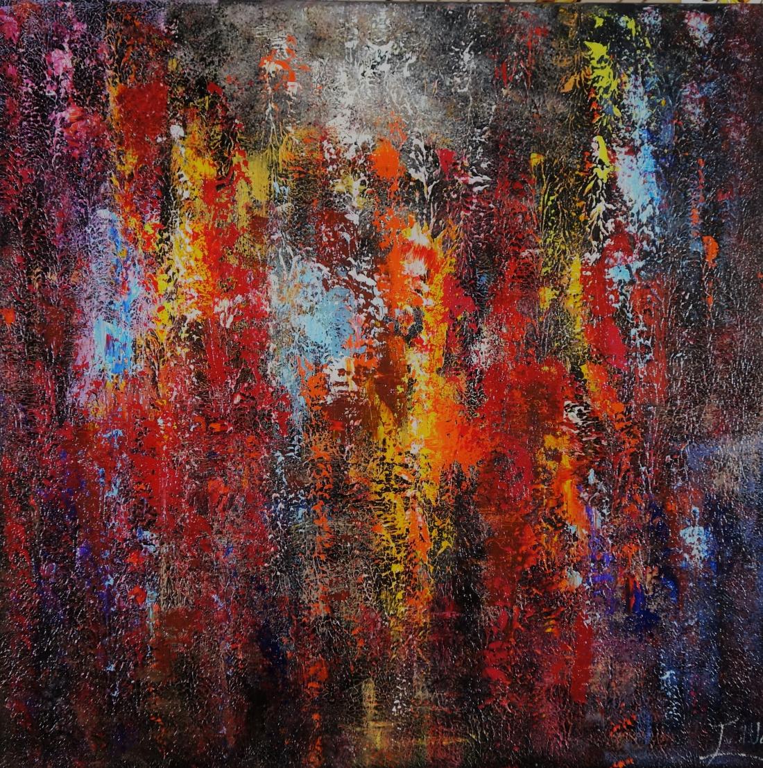 Schilderij Abstract life part 2 100x100