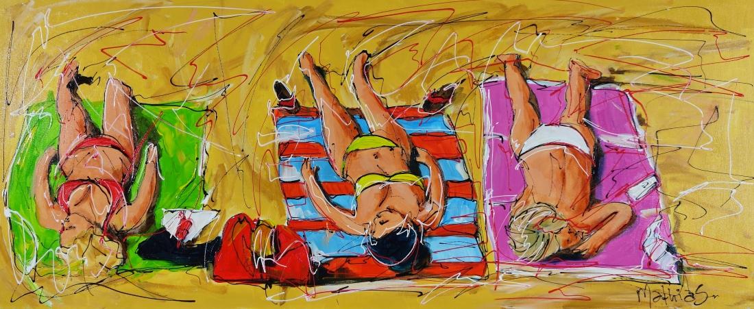 Schilderij beach 50x120