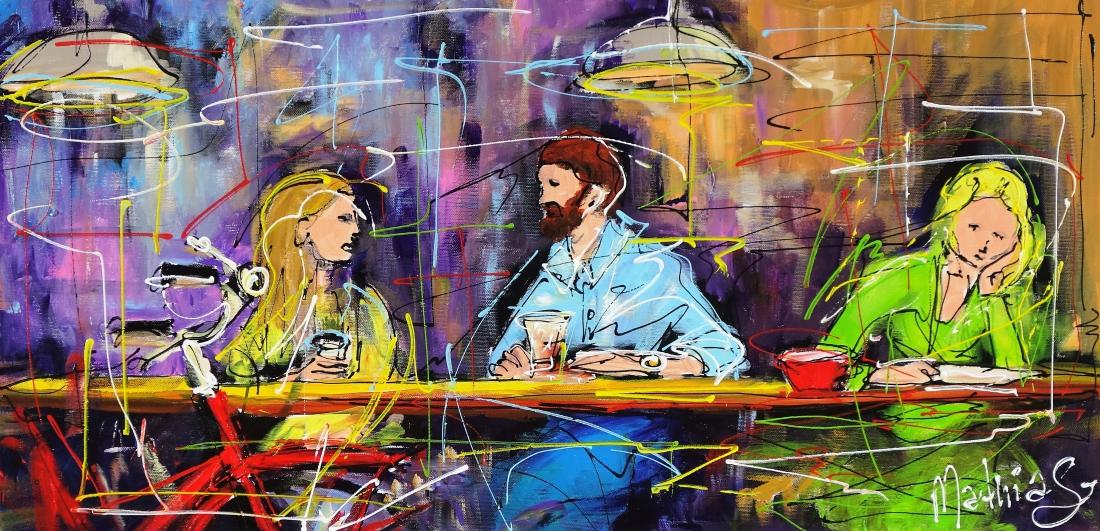 Schilderij in het cafe 40x80