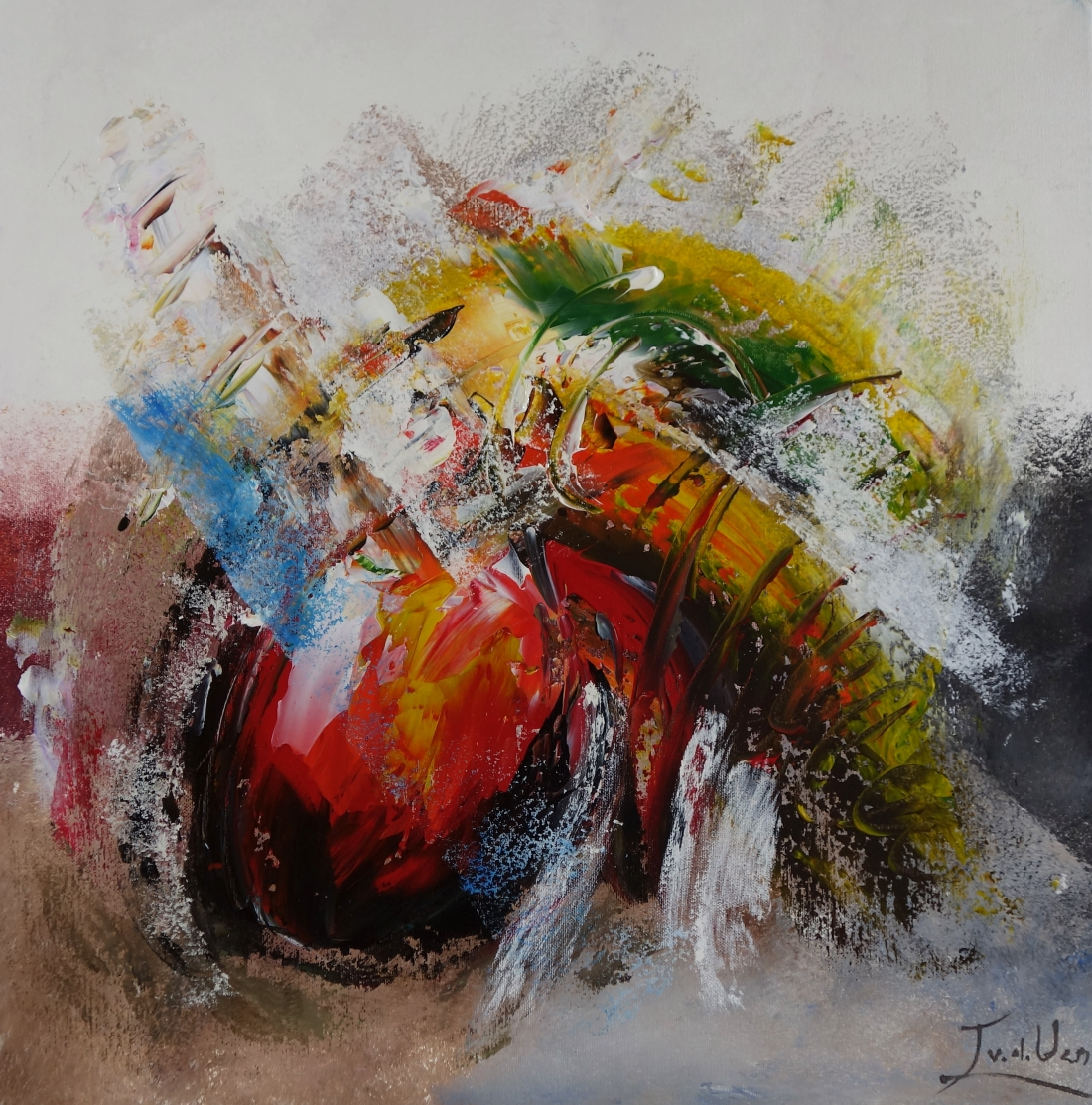 schilderij abstract 60x60