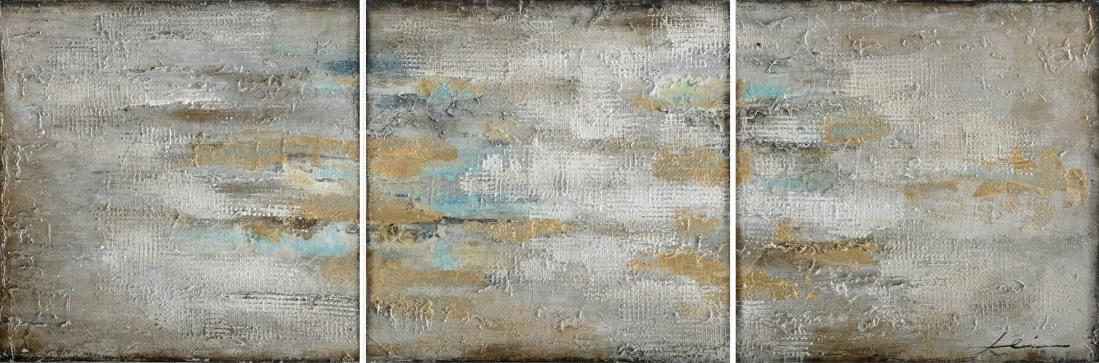 Meerluik schilderij abstract 50x150