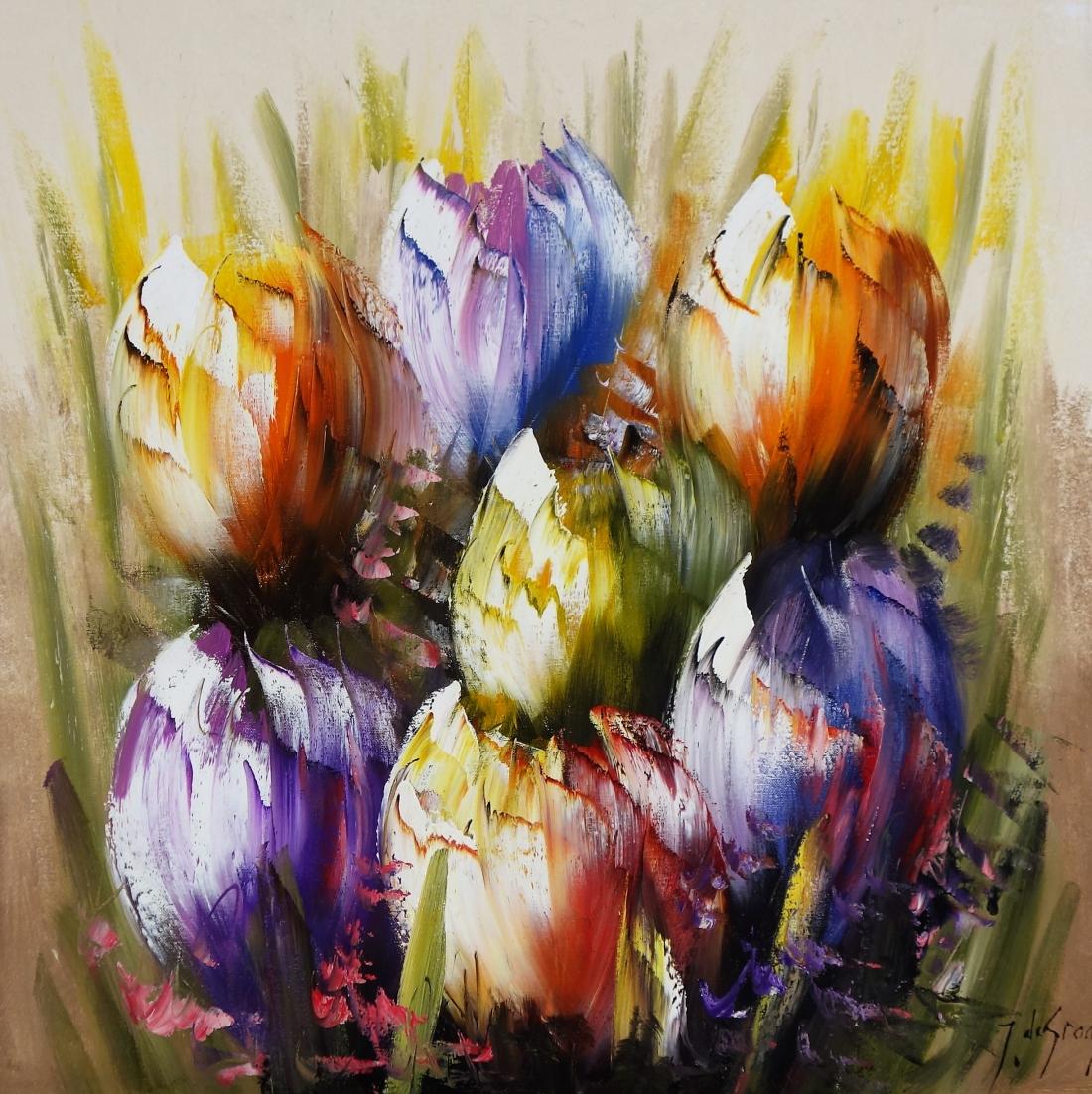 Schilderij tulpen70x70