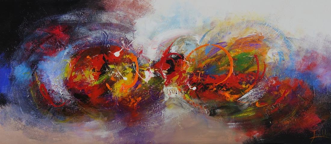 schilderij abstract 70x160
