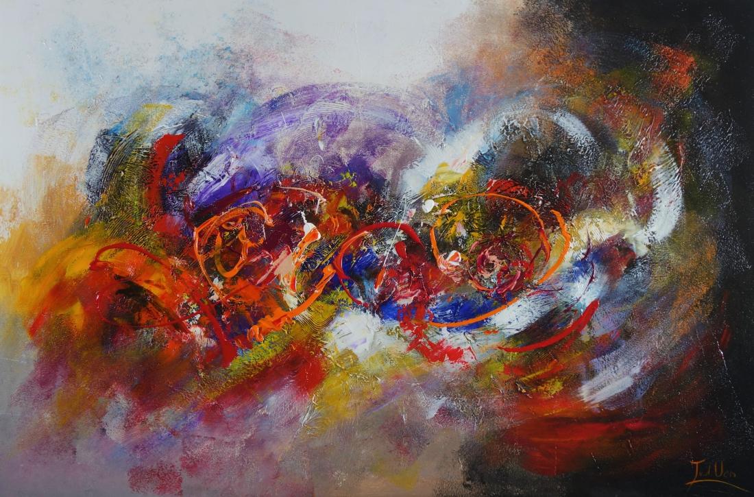 Schilderij abstract 100x150