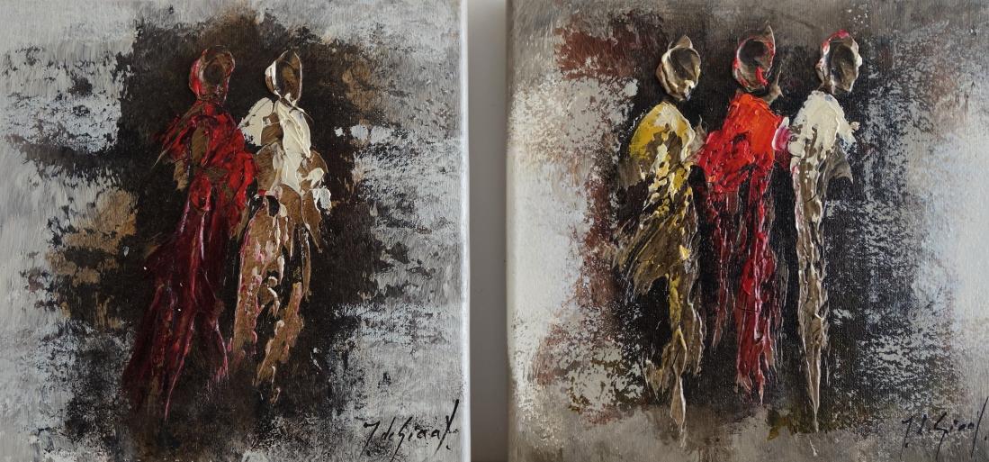 Schilderij figuratief set 30x60
