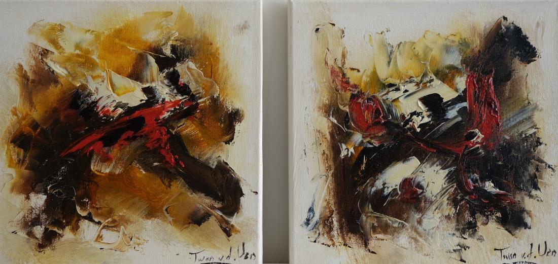 Schilderij abstract set 30x60