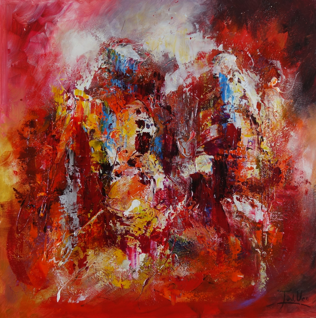 Schilderij Abstract 100x100