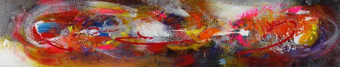 Schilderij abstract 25x150