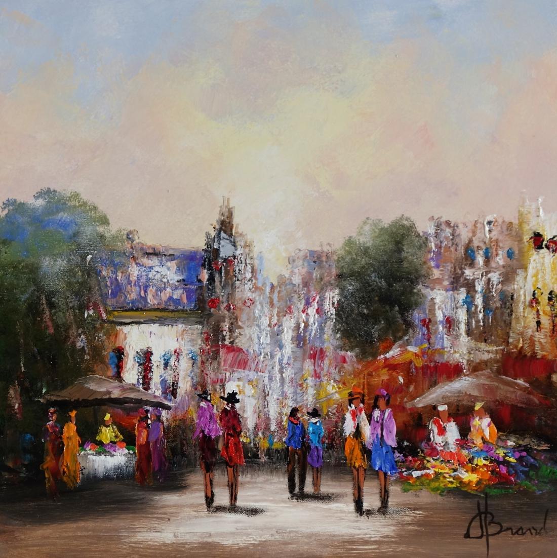 Schilderij marktplein 50x50