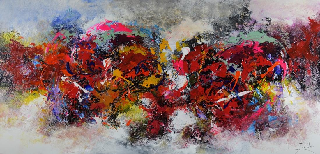 Schilderij abstract 70x140