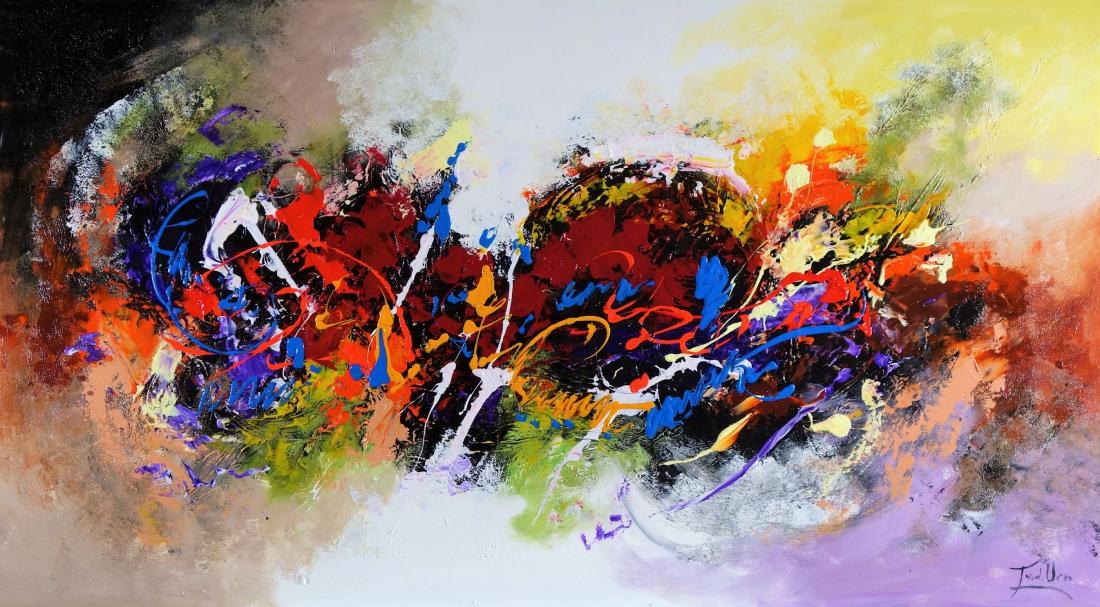 Schilderij abstract 100x180