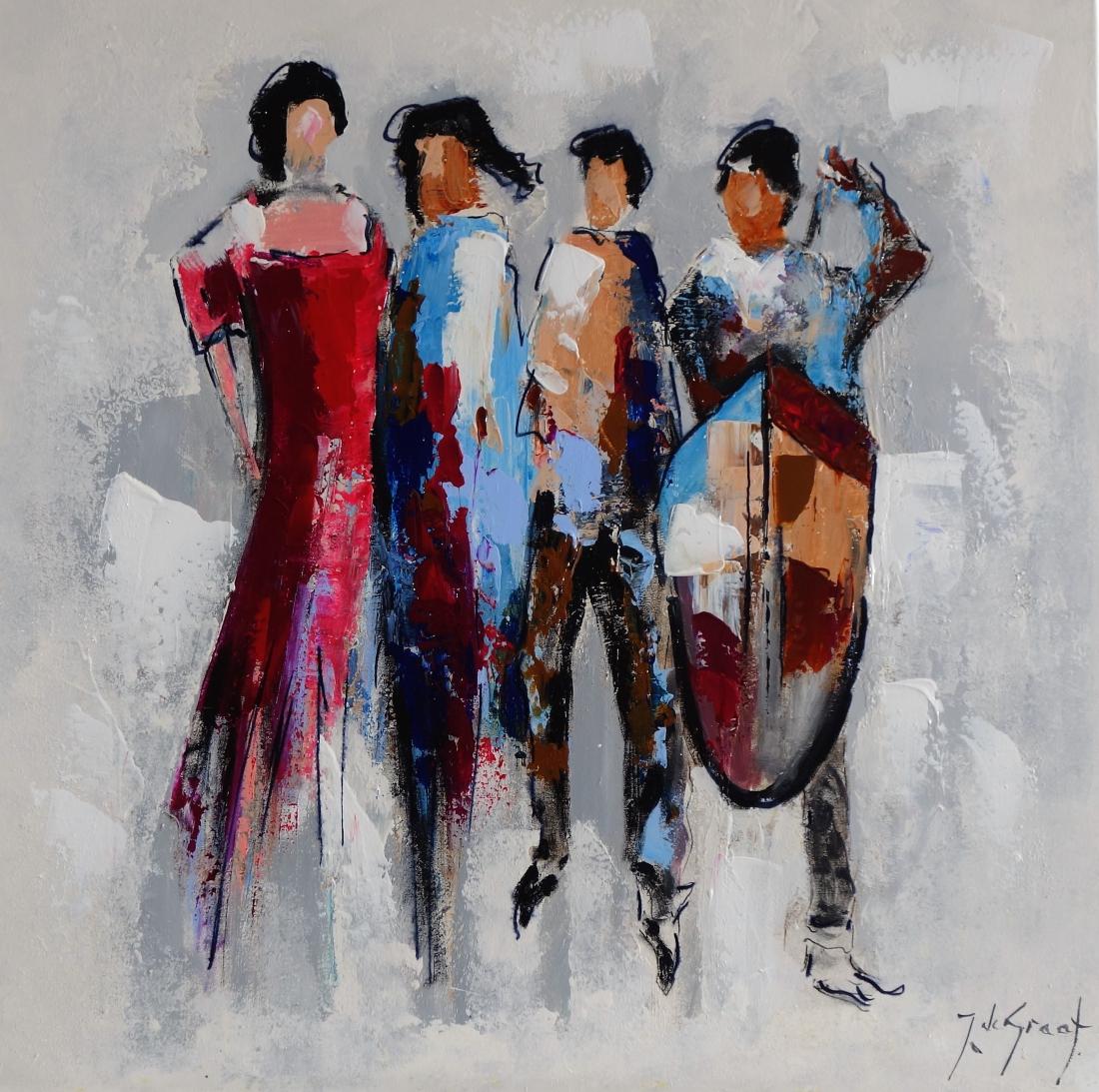 Schilderij figuratief 90x90