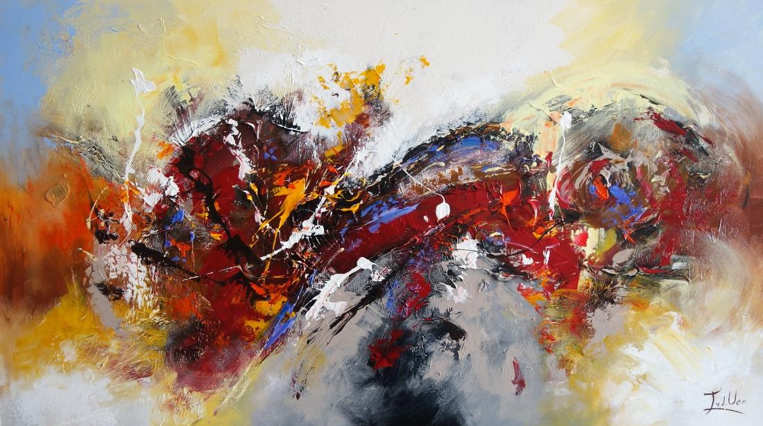 Schilderij abstract 80x140