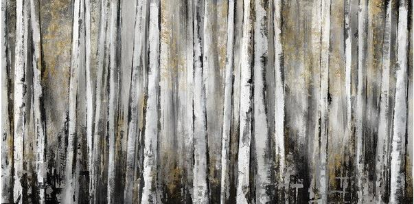 schilderij bomen 70x150