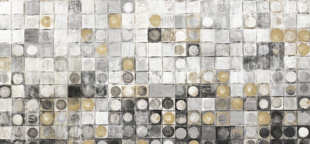 schilderij modern cirkels 70x150