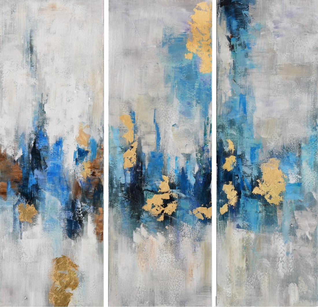 Meerluik schilderij abstract 90x90