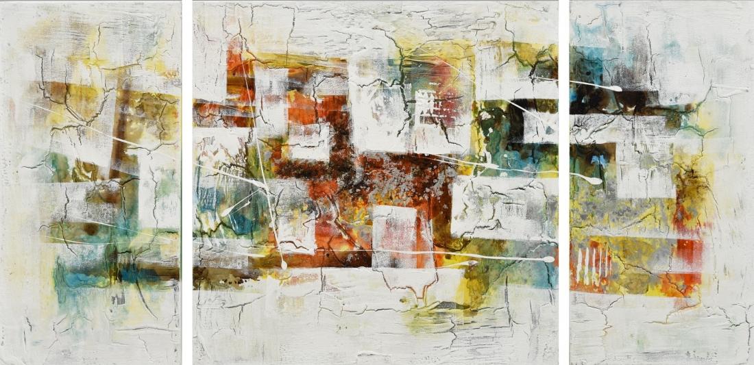 Meerluik schilderij abstract 70x140