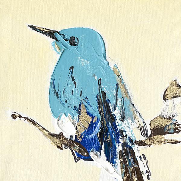 schilderij vogel 40x40