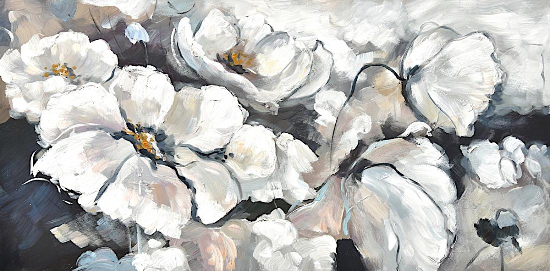 schilderij klaprozen 70x140