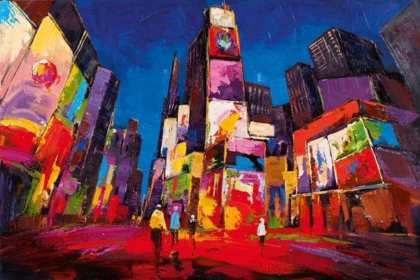 schilderij 80x120 Stad modern NIEUW!