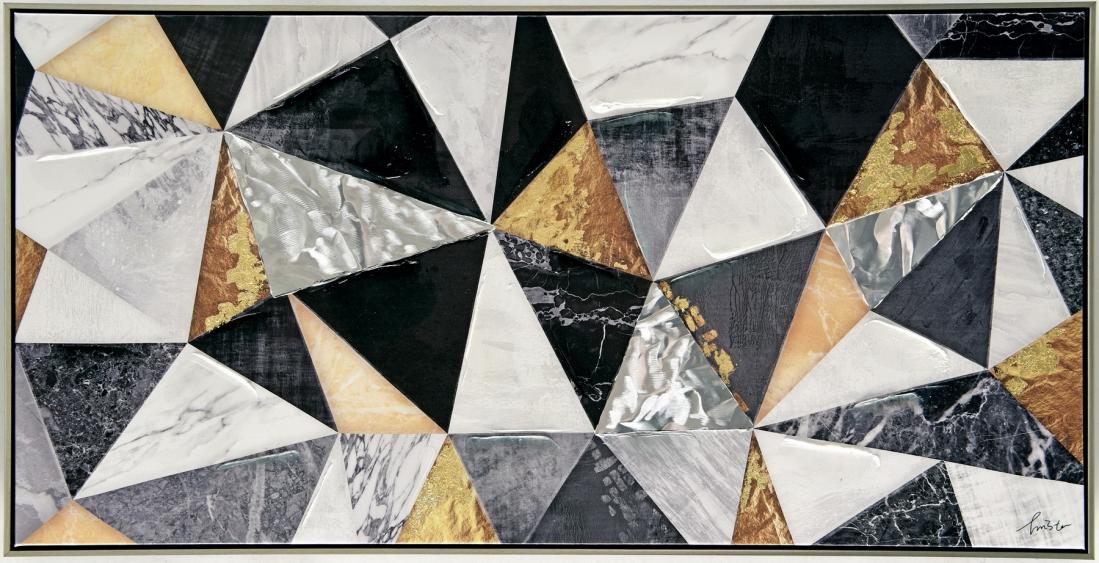 Schilderij abstract 62x122