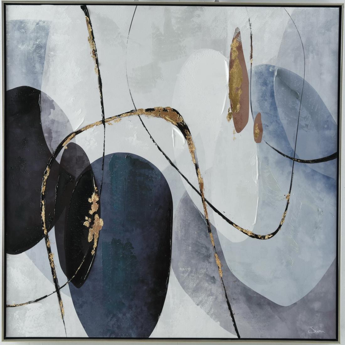 Schilderij abstract 82x82