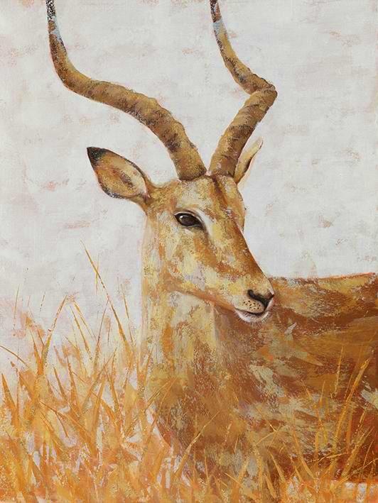 Schilderij gazelle 90x120