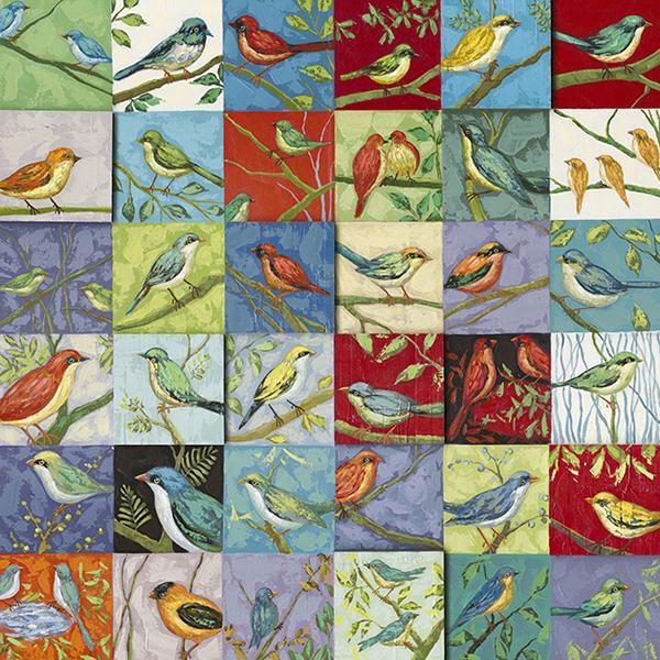 schilderij vogels 110x110