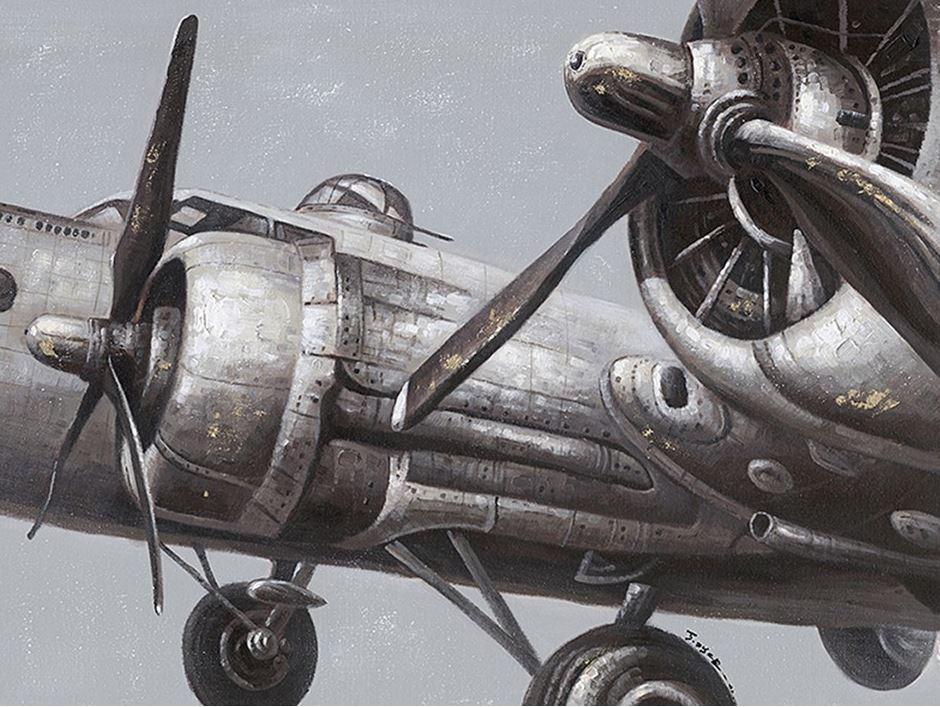 schilderij vliegtuig 90x120