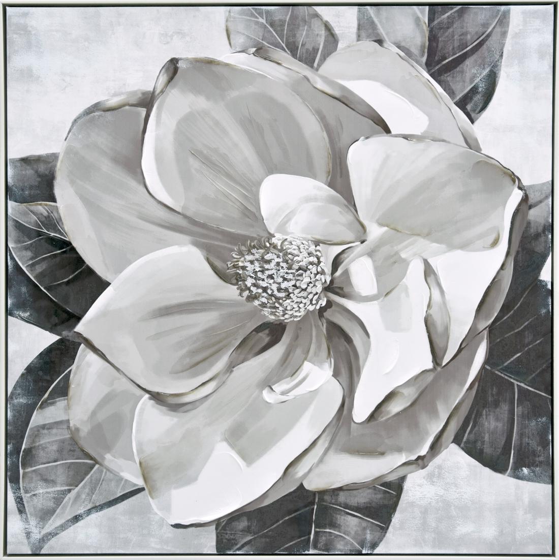 Schilderij bloem 102x102