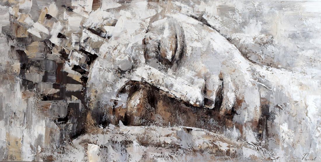 Schilderij Boeddha 70x140