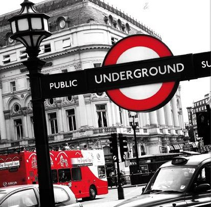 fotokunst Underground 97x97