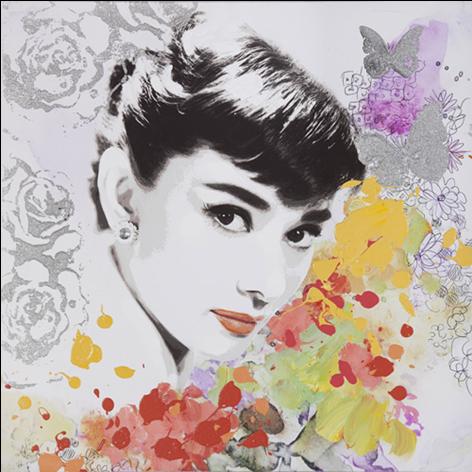 schilderij Audrey Hepburn 80x80