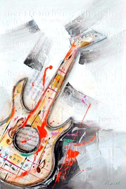 schilderij gitaar 60x90