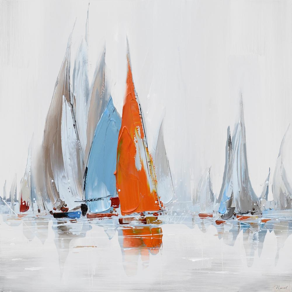 schilderij boten 70x70