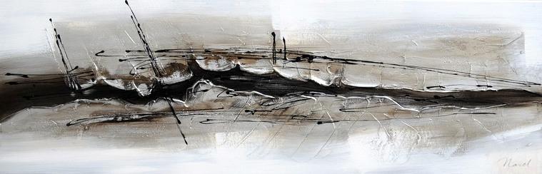 schilderij modern 40x120