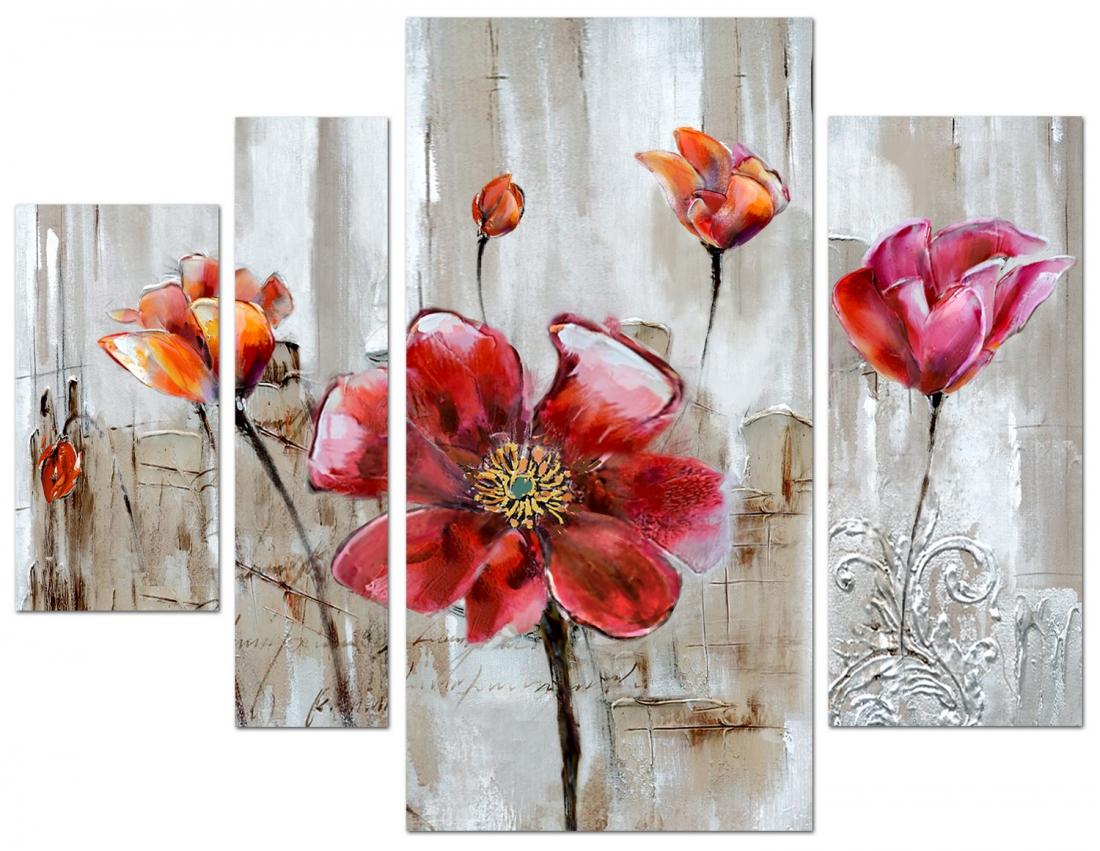 4 luik bloemen 80x109